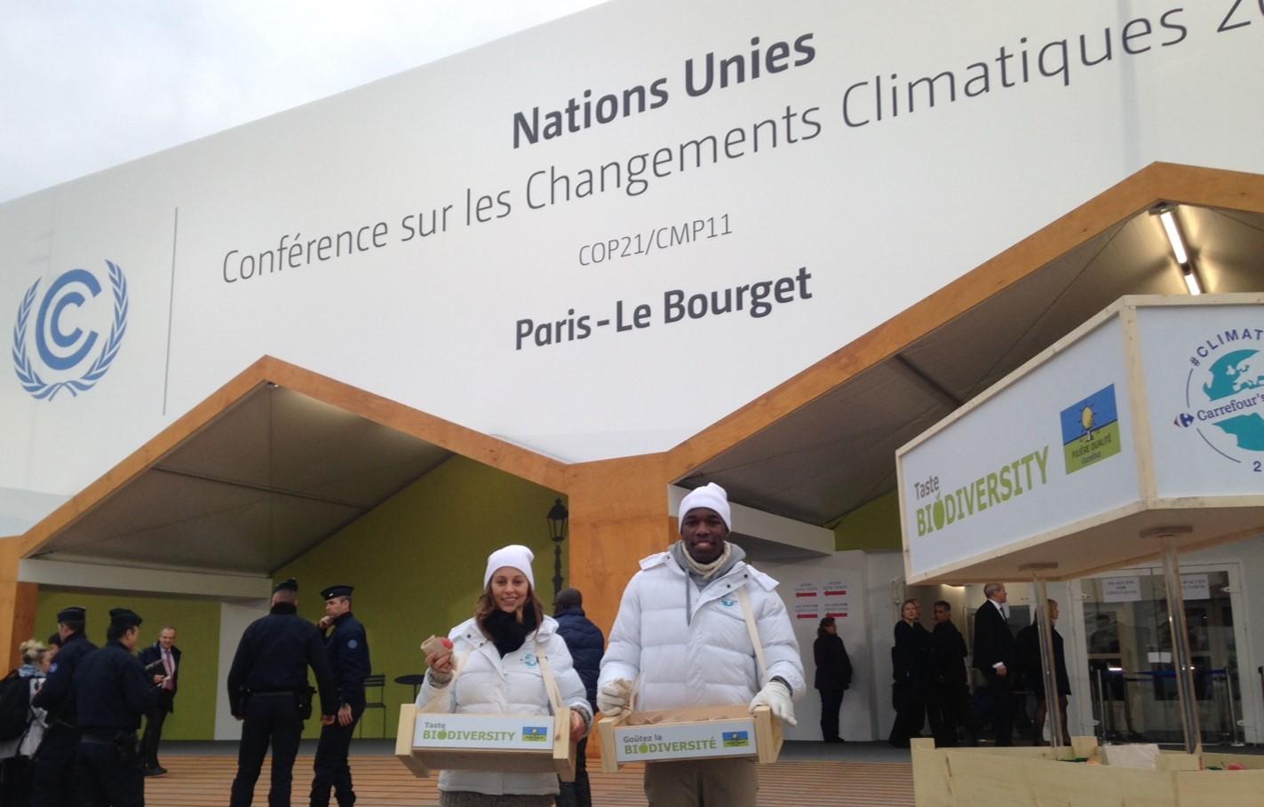 Les pommes filière qualité Carrefour à la COP21